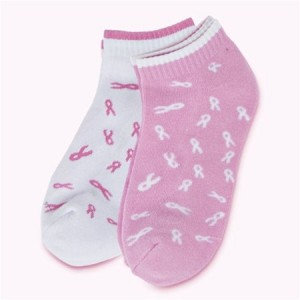 Pink Ribbon Sock Set