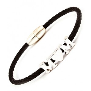 &quot;Mom&quot; Snap Bracelet