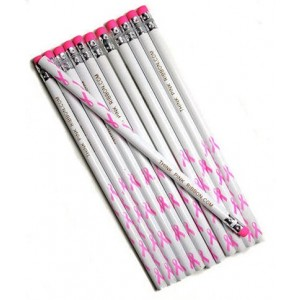 1 Dz. Pink Ribbon Pencils (12 pcs)