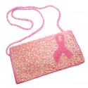 Breast Cancer Pink Ribbon Evening Bag - Beads Design