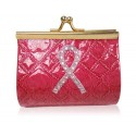 Pink Ribbon Fuchsia Coin Purse