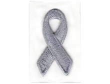 Grey Awareness Ribbon