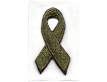 Olive Green Awareness Ribbon