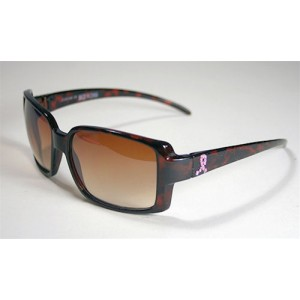 Pink Ribbon Sunglasses -Brown