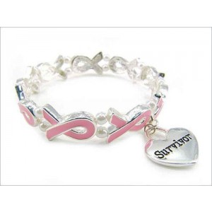 Pink Ribbon Survivor Bracelet