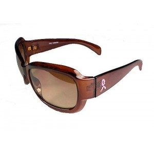 Pink Ribbon Sunglasses - Brown
