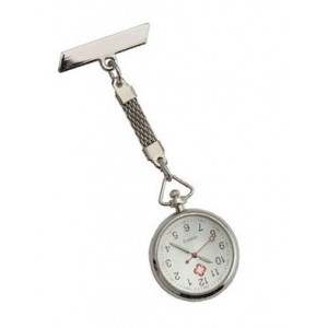 Hanging Silver Nurse/ Nursing Medical Lapel Pin Watch