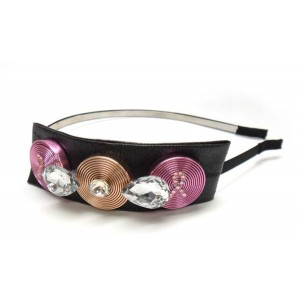 Three Circles Pink Ribbon Headband