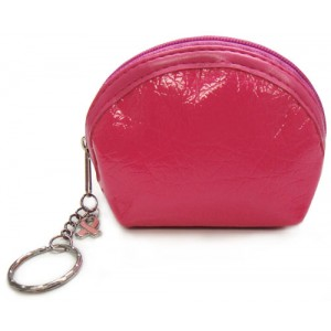 Breast Cancer Coin Purse With Pink Ribbon Charm &amp; Key Chain