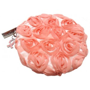 Breast Cancer Rose Pink Coin/Cosmetic Purse 