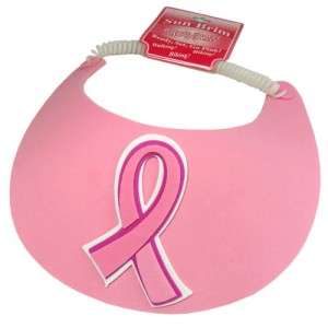 Breast Cancer Pink Ribbon Form Sun Visor 