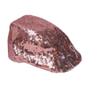 Pink Sequin Lady Diva Ivy Hat with Pink Ribbon