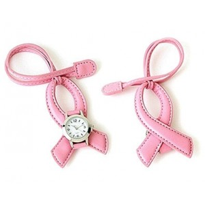 Pink Ribbon Hanging Watch