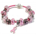 Pink Leather Bracelet