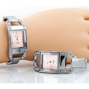 Square Pink Face Watch