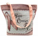 Pink Ribbon Tapestry Tote