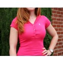 Pink Ribbon Short Sleeve Thin Hoodie Shirt