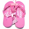 Pink Ribbon Flip Flops - Believe