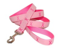Pink Ribbon Dog Leash - Pink