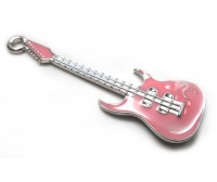 Pink Hard Rock Guitar Charm / Pendant