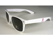 Pink Ribbon Sunglasses - White
