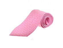 Pink Ribbon Silk Tie