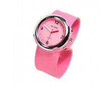 Pink Silicone Slap Watch