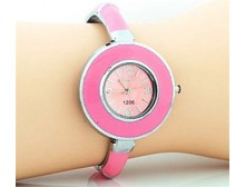 Pink Round Face Watch