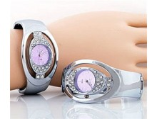 Mauve Face Cuff Watch