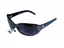 Pink Ribbon Sunglasses - Black