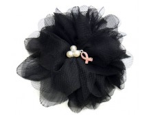 Breast Cancer Awareness Pink Ribbon Flower Fashion Hair Clip & Pin