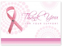 Breast Cancer Pink Ribbon Thank You Cards (10 pcs)