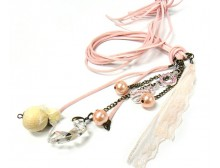 Pink Ribbon Fashion Necklace