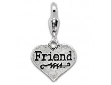 "Heart ""Friend"" Charm"