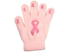 "Ladies Non-Skid Pink Ribbon Gloves ""Care"" - Style 02"