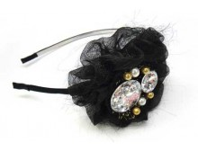 Pink Ribbon Headband-Black