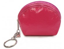 Breast Cancer Coin Purse With Pink Ribbon Charm & Key Chain