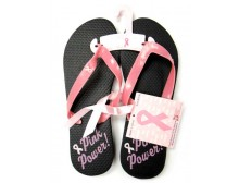 Pink Ribbon Flip Flops - Pink Power