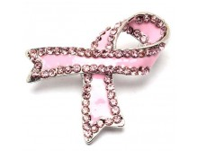 Pink Ribbon Pendant & Brooch