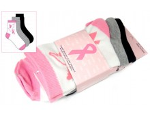 Breast Cancer Awareness 3 Pack Socks -Style 01