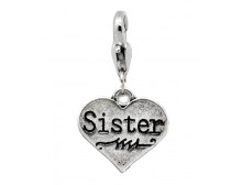 Heart &quot;Sister&quot; Charm