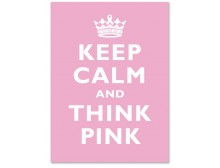 Breast Cancer Keep Calm & Think Pink Cards (10 pcs)