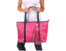 Pink Ribbon Large Woven Tote Bag