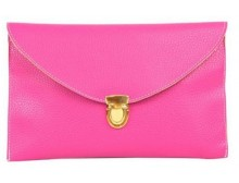 Hot Pink Carryall Envelope Clutch Bag