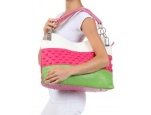 Breast Cancer Awareness Leather Tote Purse