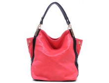 Large Fuchsia Hobo Bag with Shoulder Straps