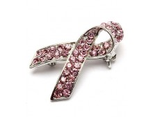 Pink Ribbon Breast Cancer Awareness Lapel Pin Brooch