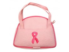 Pink Ribbon Coin Purse with Pink Ribbon