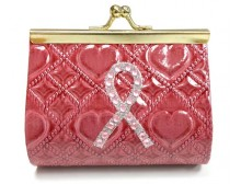 Pink Ribbon Pink Coin Purse