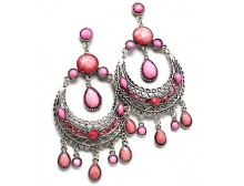 Pink Chandelier Drop Earrings